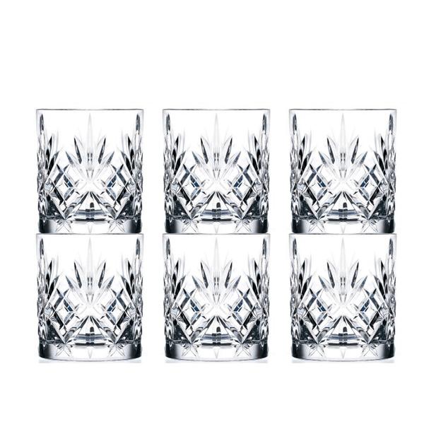 Køb 6 stk Lyngby Glas Melodia Krystal Whisky Glas på tilbud her